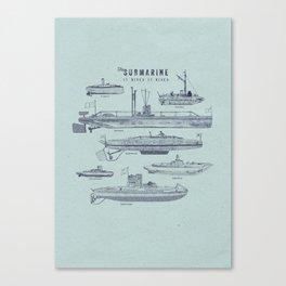 Sub-vert Canvas Print