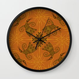 pagan bird. seamless pattern Wall Clock