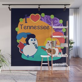 Ernest and Coraline | I love Tennessee Wall Mural