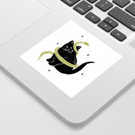 Black Cat Snake Sticker