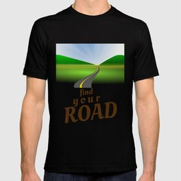 Find Your Road Not Taken or Less Traveled Prints Map Goes On Forever T-shirt