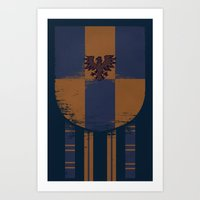ravenclaw Art Prints featuring ravenclaw crest by nisimalotse