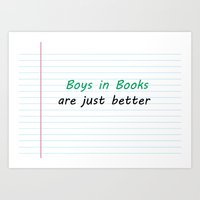 Boys in Books Art Print