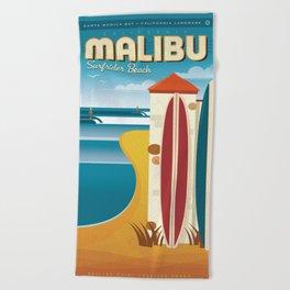 Malibu, Surfrider Beach California Beach Towel
