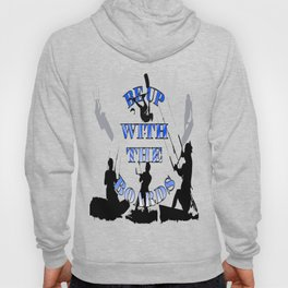 Be Up With The Boards Text And Kitesurfer Vector Hoody