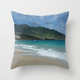 Clouds, Mountains and Ocean Throw Pillow