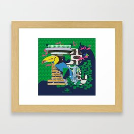Mews in Rio de Janeiro (Typography) Framed Art Print