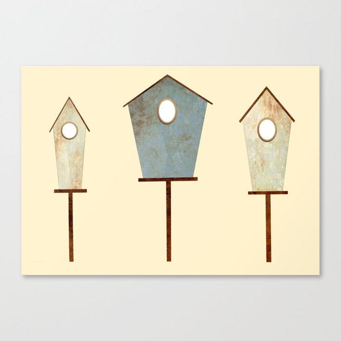 Birdy Birdhouse Canvas Print