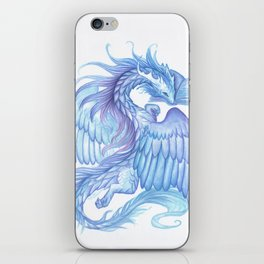 A dragon with a book iPhone Skin
