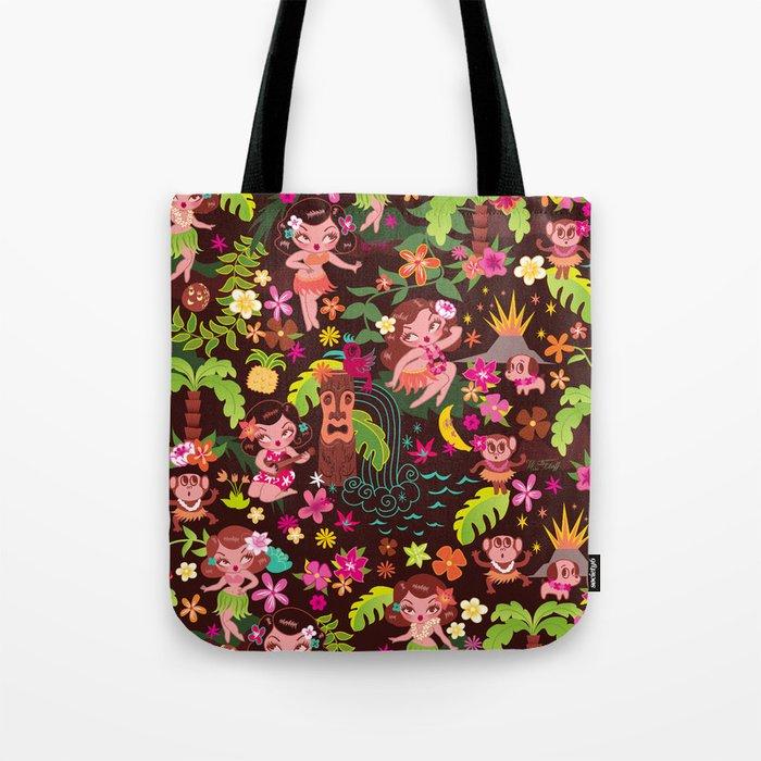 Hula Cuties Pattern Tote Bag