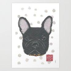 Black French Bulldog, FRENCHIE, Dog Art Print