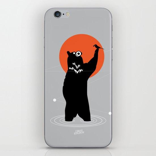 Big Bear and the Bird- Wearing Gas mask iPhone & iPod Skin