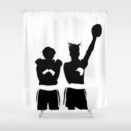 #TheJumpmanSeries, Basquiat X Warhol Shower Curtain