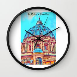 St Peter's Basilica in Art Wall Clock