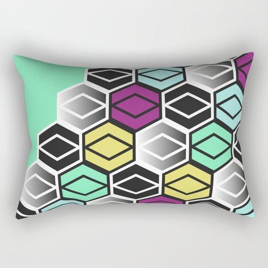 HexagonWall Rectangular Pillow