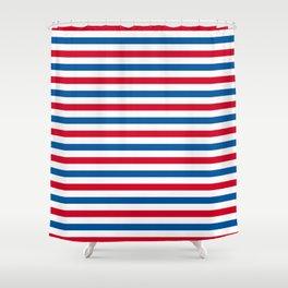 Patriotic Stripes Shower Curtain