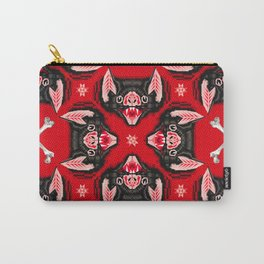 Vampire Bat Face Geometric Pattern Carry-All Pouch