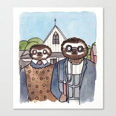 American Slothic  Canvas Print