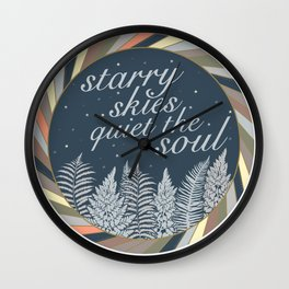Starry Skies Quiet The Soul Wall Clock