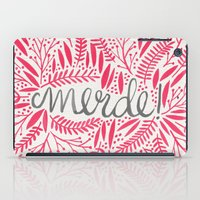 french iPad Cases featuring Pardon My French – Pink by Cat Coquillette
