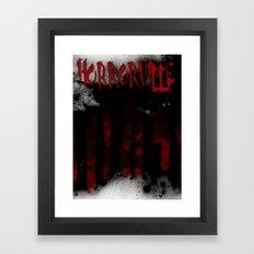 HorrorVille b-movie poster Framed Art Print