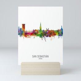 San Sebastian Spain Skyline Mini Art Print