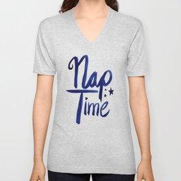Nap Time | Lazy Sleep Typography Unisex V-Neck
