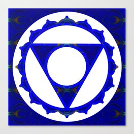 Clear Channels of  Blue Abstract Chakra Art Canvas Print