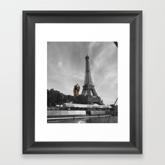 Man Eifel Tower Framed Art Print