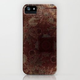 Abstract Brown & a Hidden Mandela (Faux Suede Appearance) iPhone Case