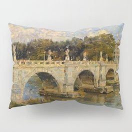 French Impressionistic Arched Bridge Pillow Sham