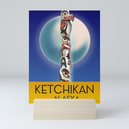Ketchikan Alaska travel poster Mini Art Print