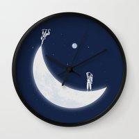 skate Wall Clocks featuring Skate Park by Naolito