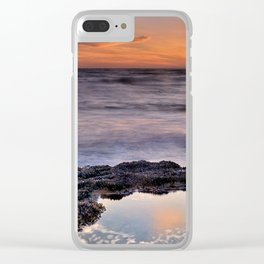 Red sunset. Mediteranean sea Clear iPhone Case