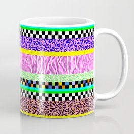 Leopard Zebra Check Stripe Mixed Pattern - Horizontal II Coffee Mug