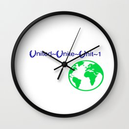 United World Wall Clock