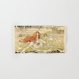 Cabourg Paris Beach art nouveau travel ad Hand & Bath Towel