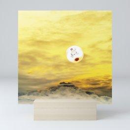 Time Rabbit and Magic Mountain Mini Art Print