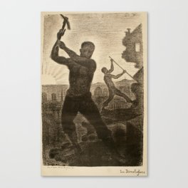 The Demolishers Canvas Print