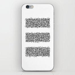 tri white iPhone Skin
