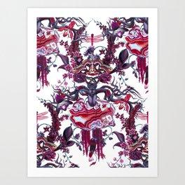Merlot (dense pattern) Art Print