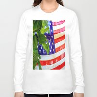 flag Long Sleeve T-shirts featuring Flag by Jodi Kassowitz Photography