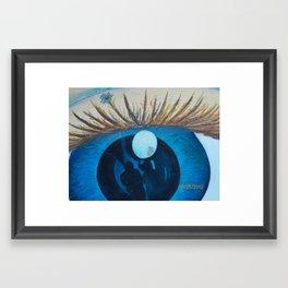 eye of dianna Framed Art Print