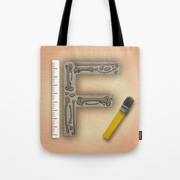 F is for Fossil Tote Bag