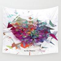 techno Wall Tapestries featuring Techno Art by Nico Bielow by nicobielow