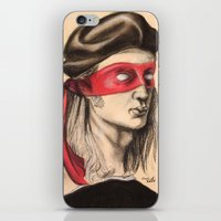 tmnt iPhone & iPod Skins featuring Raph TMNT by Rachel M. Loose