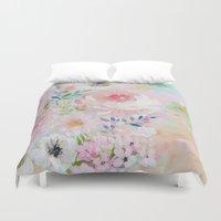 craftberrybush Duvet Covers featuring Acrylic rose garden  by craftberrybush