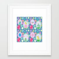 easter Framed Art Prints featuring Easter  by Art Tree Designs