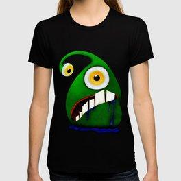 Green big eye monster T-shirt