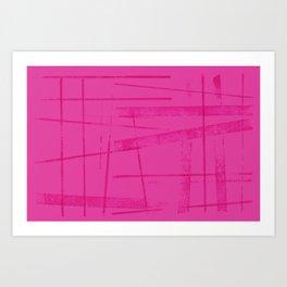 A hot pink mess Art Print